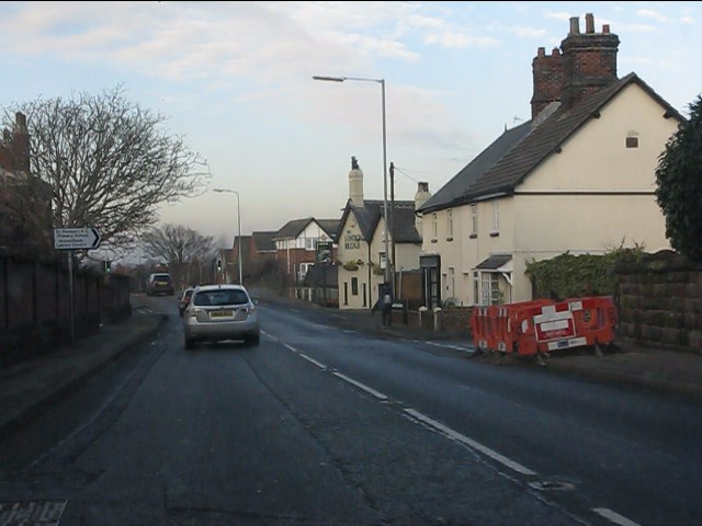 London Road (A49) at Dingleway