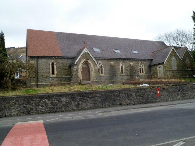 Closed St Alban's church, Tynewydd