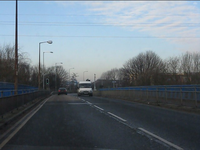 Chester Road crosses an arm of the Mersey
