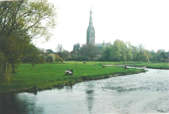 River Nadder near Salisbury in 1988