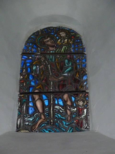 St Mary's Church, Breamore-stained glass window (6)