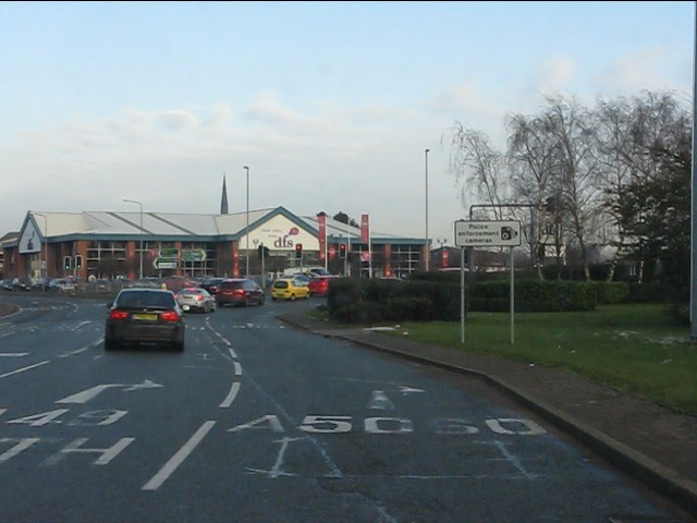 A49 roundabout, Warrington Town Centre