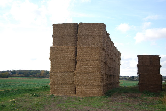 Hay bales, New Barn Farm