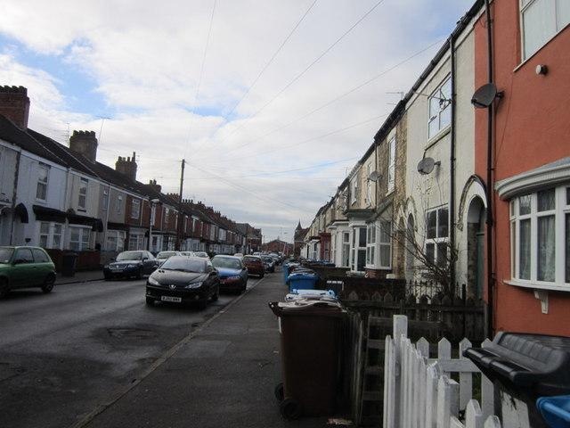 Pendrill Street looking towards Beverley Road, Hull