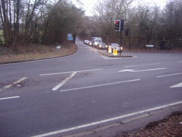 Hendon Wood Lane at the junction of Highwood Hill