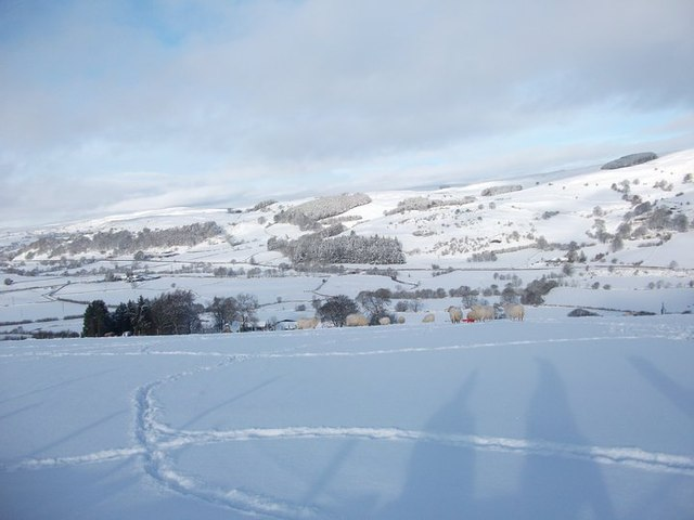 Llangwm Valley in the snow