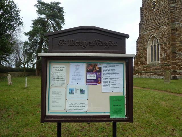 St Mary the Virgin, Everton, Noticeboard