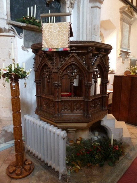 St Mary the Virgin, Everton, Pulpit