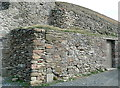 SW6949 : Retaining wall at Chapel Porth by Graham Horn