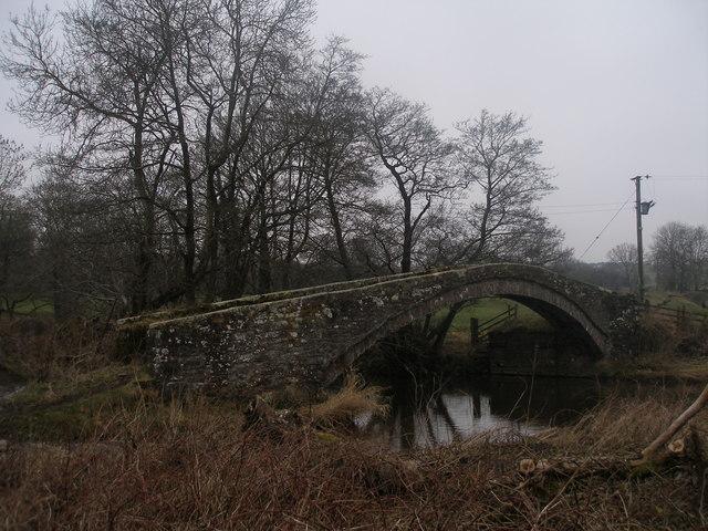 Packhorse bridge at Calva Hall