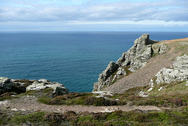 Coastal path above near St Agnes Head