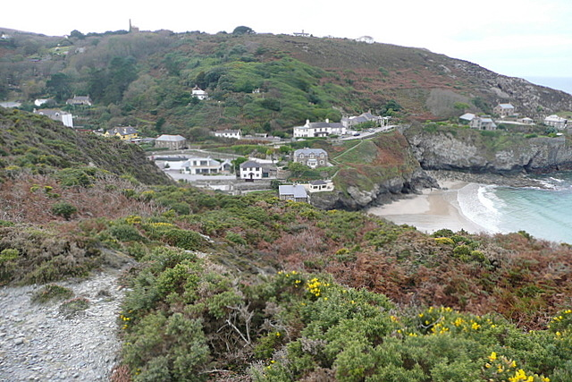 Looking down on Trevaunance Cove