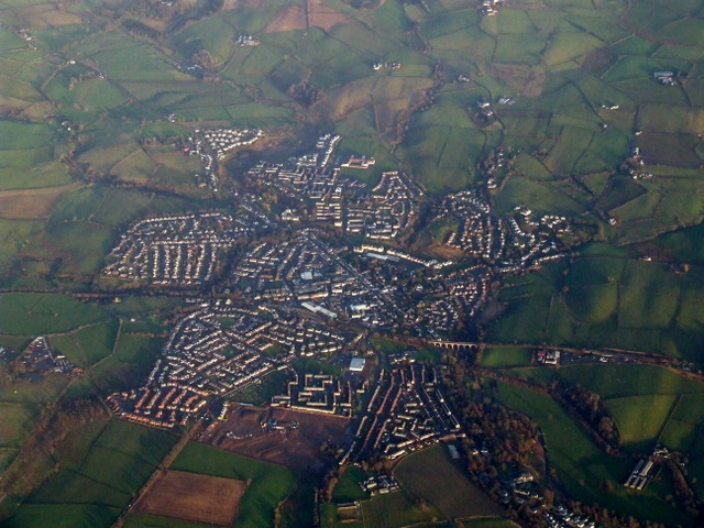 Stewarton from the air