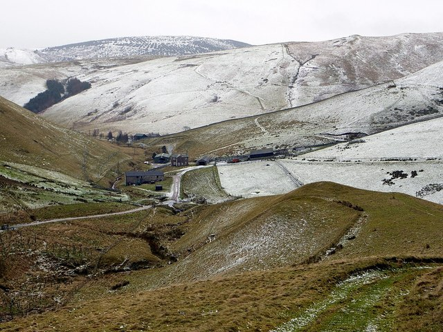Trows Farm from track below Trows Law