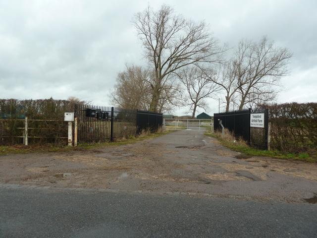 Entrance to Tempsford Airfield Farm