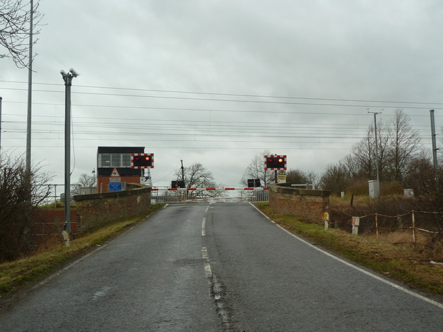 Everton Crossing on Tempsford Road, near Everton