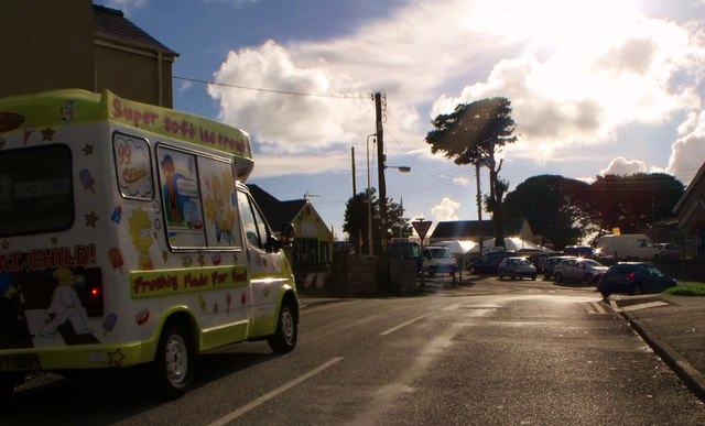 Ice cream van drives into the sun, Johnston