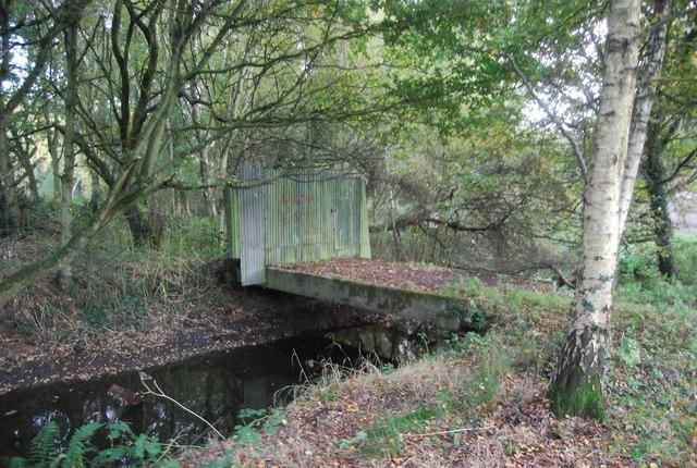 Defunct bridge over the Blackwater River