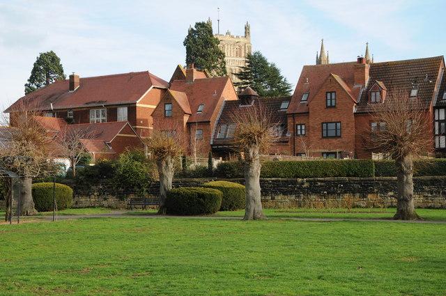 Houses overlooking Victoria Gardens