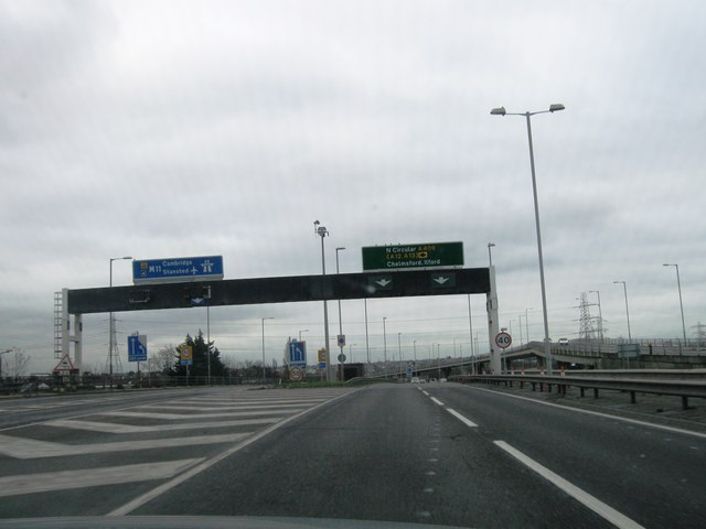 Turning for M11, South Woodford