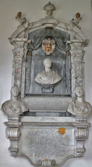 Memorial to Sir George Heneage and wives, St Mary's church, Hainton
