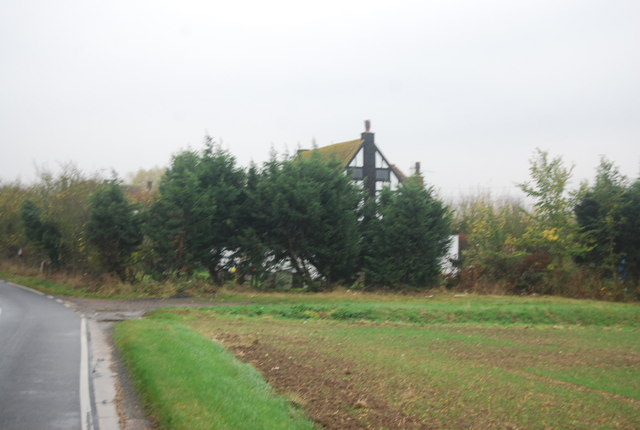 Great Ruckinge Farmhouse in the trees