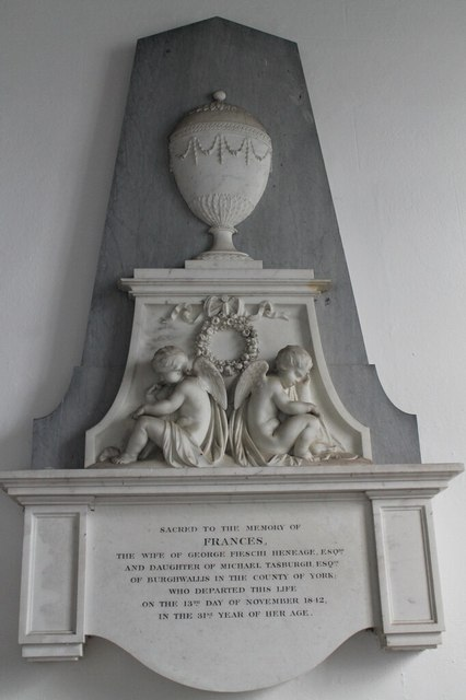 Memorial to Frances Heneage, St Mary's church, Hainton