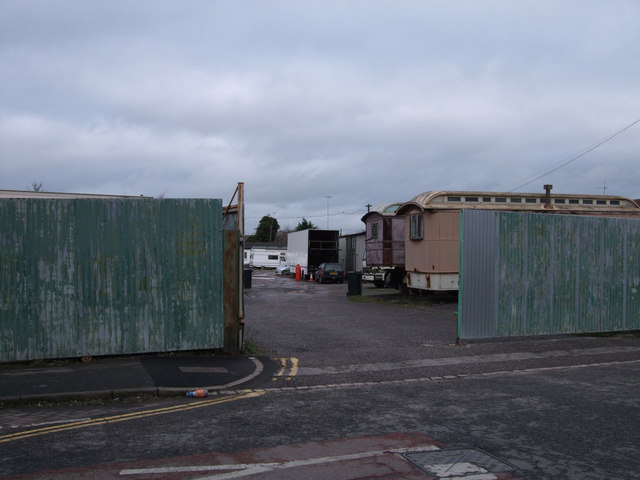 Edwards Amusement Depot entrance, Ferndale Road, Swindon