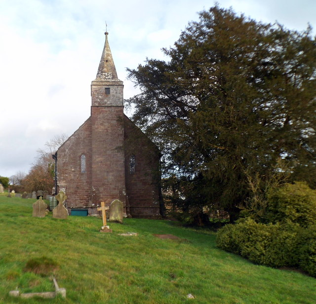 Western side of Grade I listed Church of St Mary, Welsh Newton
