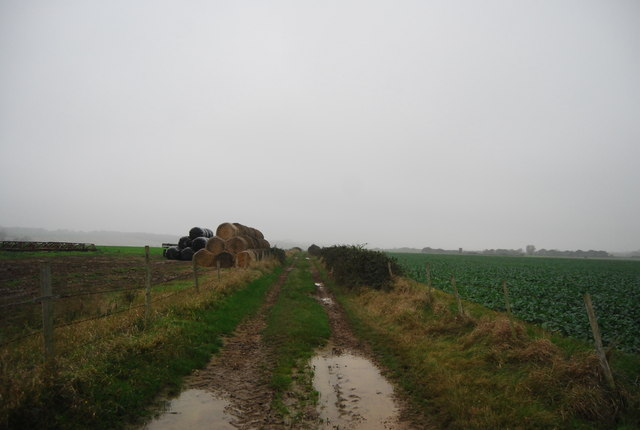 Footpath south west from Buckwell Farm