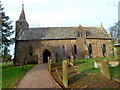 SO4918 : South side of Grade I listed Church of St Mary, Welsh Newton by John Grayson