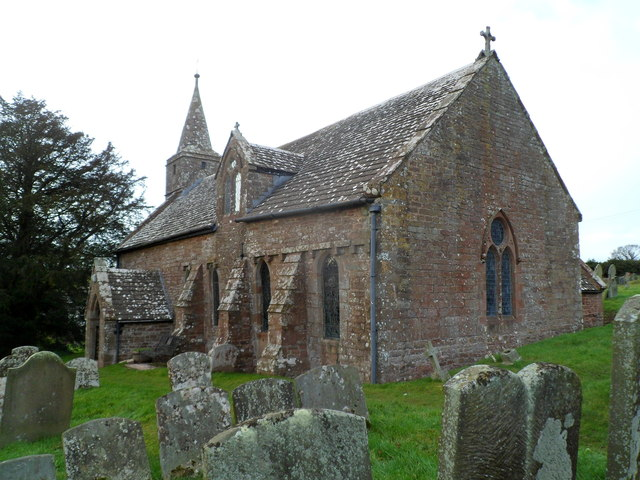 SE side of Grade I listed Church of St Mary, Welsh Newton