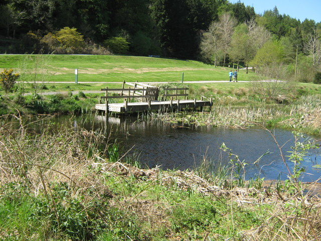 Small pond and observation platform