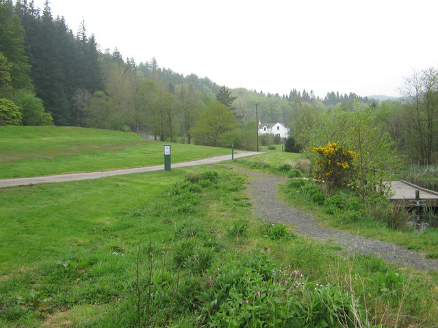 Path to the visitor centre at Kirroughtree