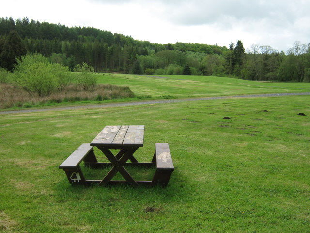 Picnic area at Kirroughtree