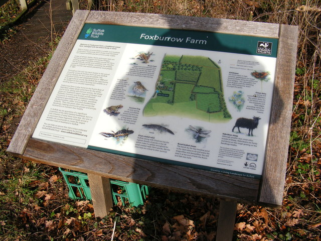 Information Board at Foxburrow Farm