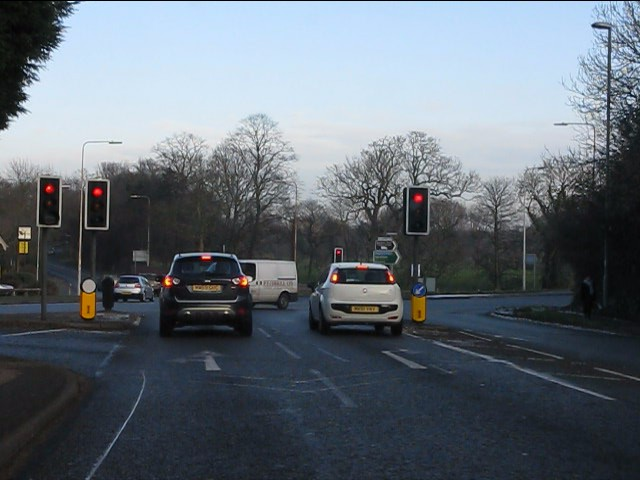 A56/A50 intersection, Grappenhall