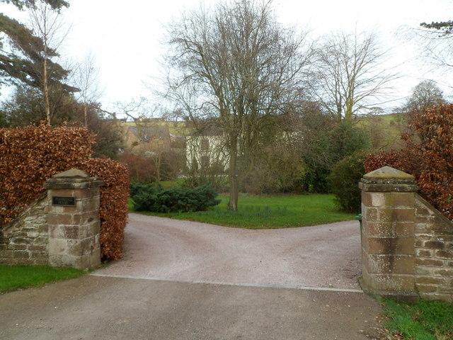 Entrance to Grade II listed Pembridge House, Welsh Newton