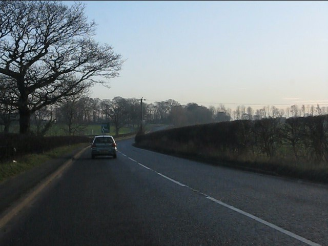 The A50 in open countryside