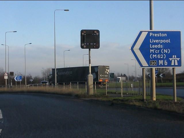 Onto the northbound M6