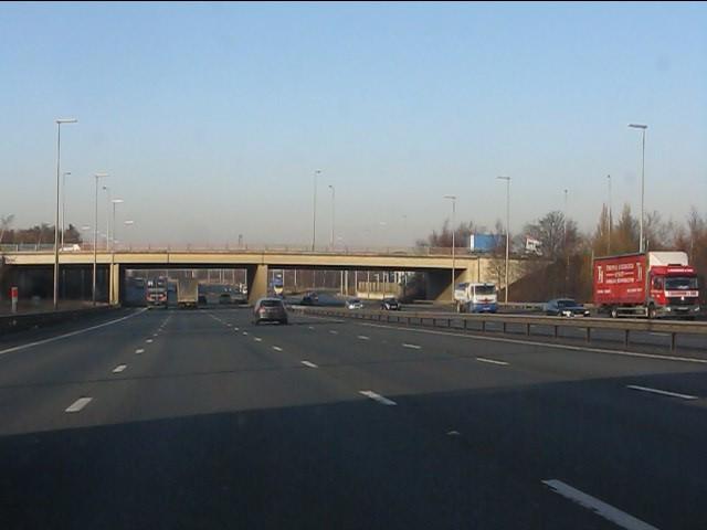 M6 motorway - A57 overbridge at junction 21