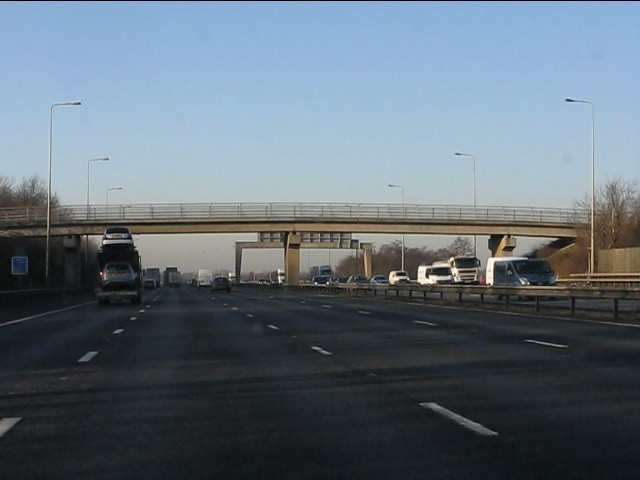 M6 motorway - Woolston Moss accommodation bridge
