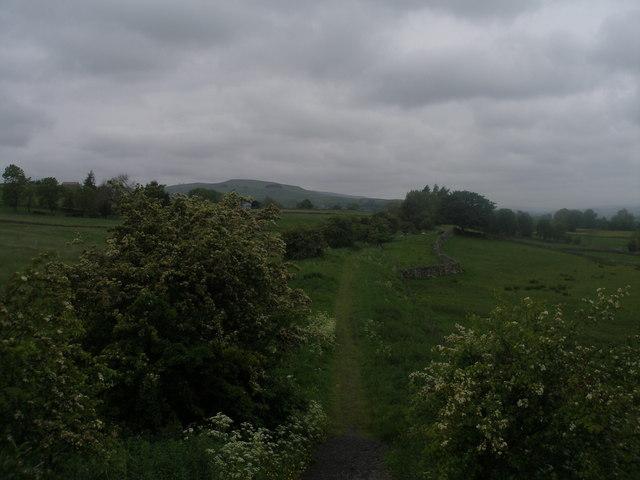 Path on the old railway near Mickleton