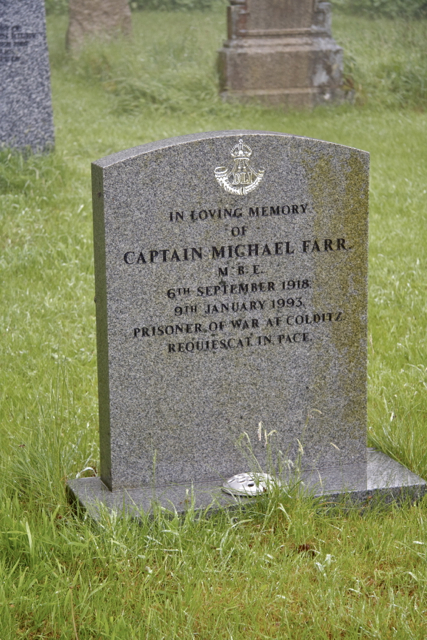 Grave of M Farr a Colditz POW in Hartford Churchyard