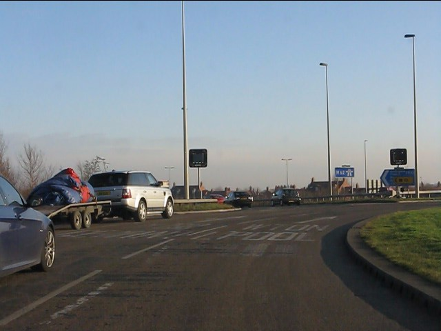 M62 motorway - roundabout at junction 8