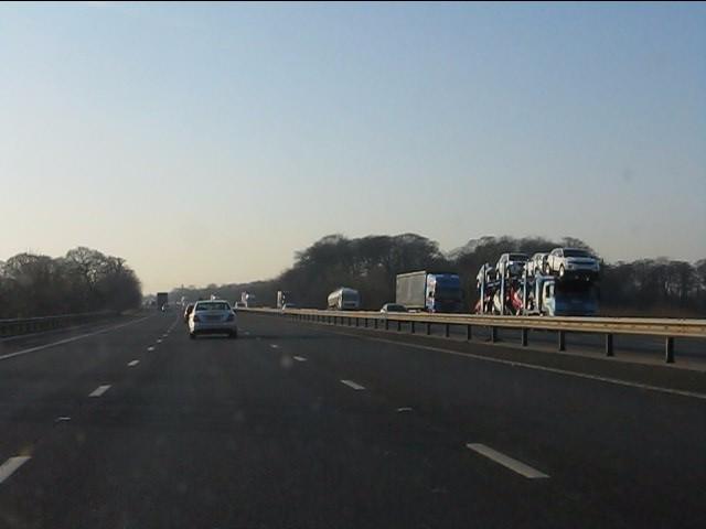 M62 motorway near Coney Green Wood