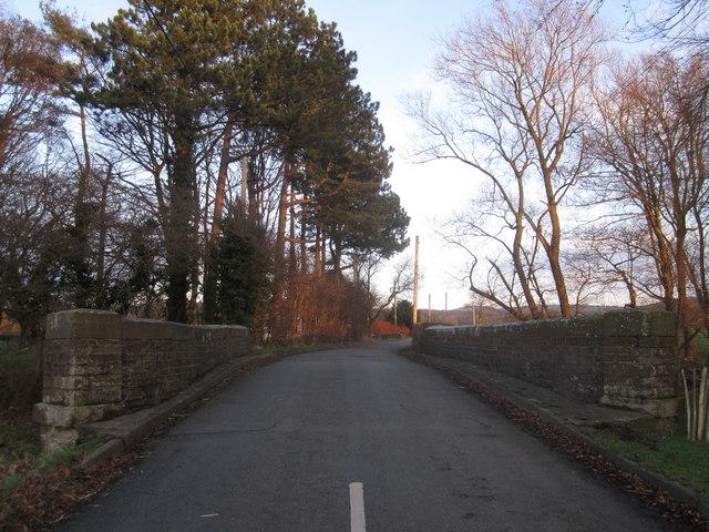 Holehouse Lane bridge over River Dean