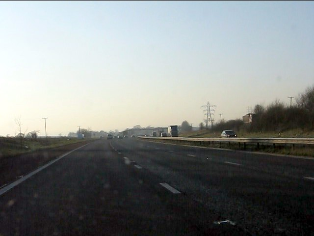 M62 motorway - westbound at junction 7