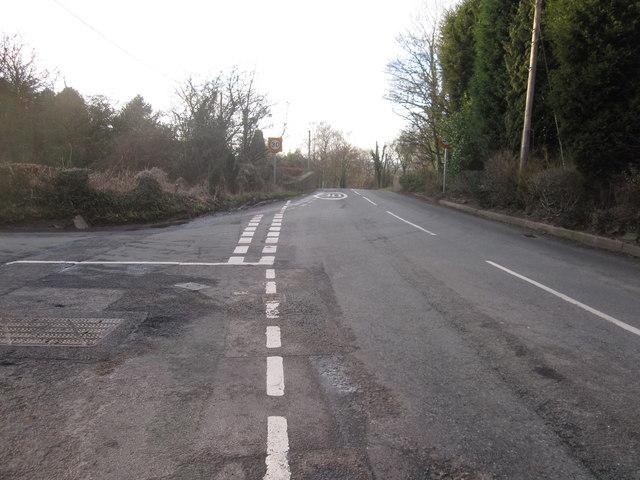 Brookledge Lane canal bridge and Sugar Lane junction