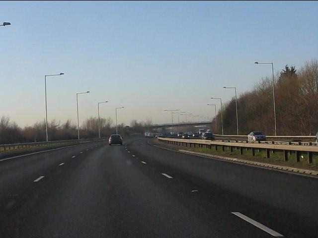 M62 motorway west of junction 6